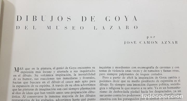 Libros de segunda mano: GOYA REVISTA DE ARTE 1954 N 1. DIBUJOS GOYA. GAYA NUÑO,PEREZ VILLAMIL. BERNARD BUFFET. ORTEGA MUÑOZ - Foto 3 - 261127360