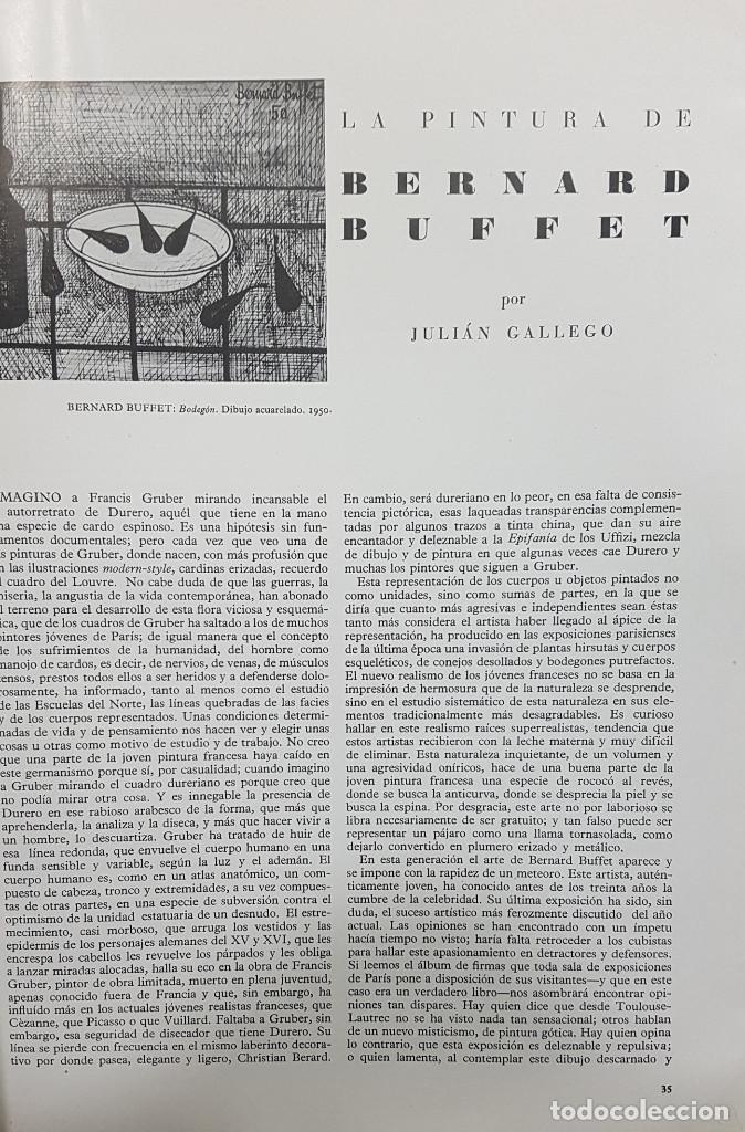 Libros de segunda mano: GOYA REVISTA DE ARTE 1954 N 1. DIBUJOS GOYA. GAYA NUÑO,PEREZ VILLAMIL. BERNARD BUFFET. ORTEGA MUÑOZ - Foto 9 - 261127360