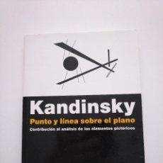 Libros de segunda mano: KANDINSKY. PUNTO Y LÍNEA SOBRE EL PLANO. CONTRIBUCIÓN AL ANÁLISIS DE LOS ELEMENTOS PICTÓRICOS. Lote 262057165