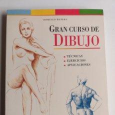 Libros de segunda mano: GRAN CURSO DE DIBUJO. TÉCNICAS DE EJERCICIOS APLICACIONES. DOMINGO MANERA . . TÉCNICAS PINTURA. Lote 262886820