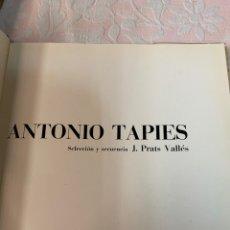 Libros de segunda mano: ANTONIO TAPIES, SELECCIÓN Y SECUENCIA. Lote 262950030