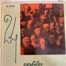 Libros de segunda mano: 24 PERFILES DE ARTISTAS, M. SIMA, VERGARA. Lote 263081175