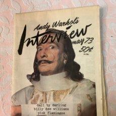 Libros de segunda mano: ANDY WARHOL'S INTERVIEW. Lote 263137700