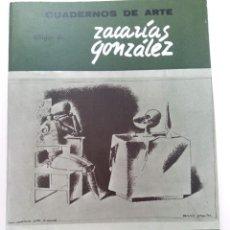 Libros de segunda mano: CUADERNOS DE ARTE Nº 31 -DIBUJOS DE ZACARÍAS GONZÁLEZ. Lote 263256695