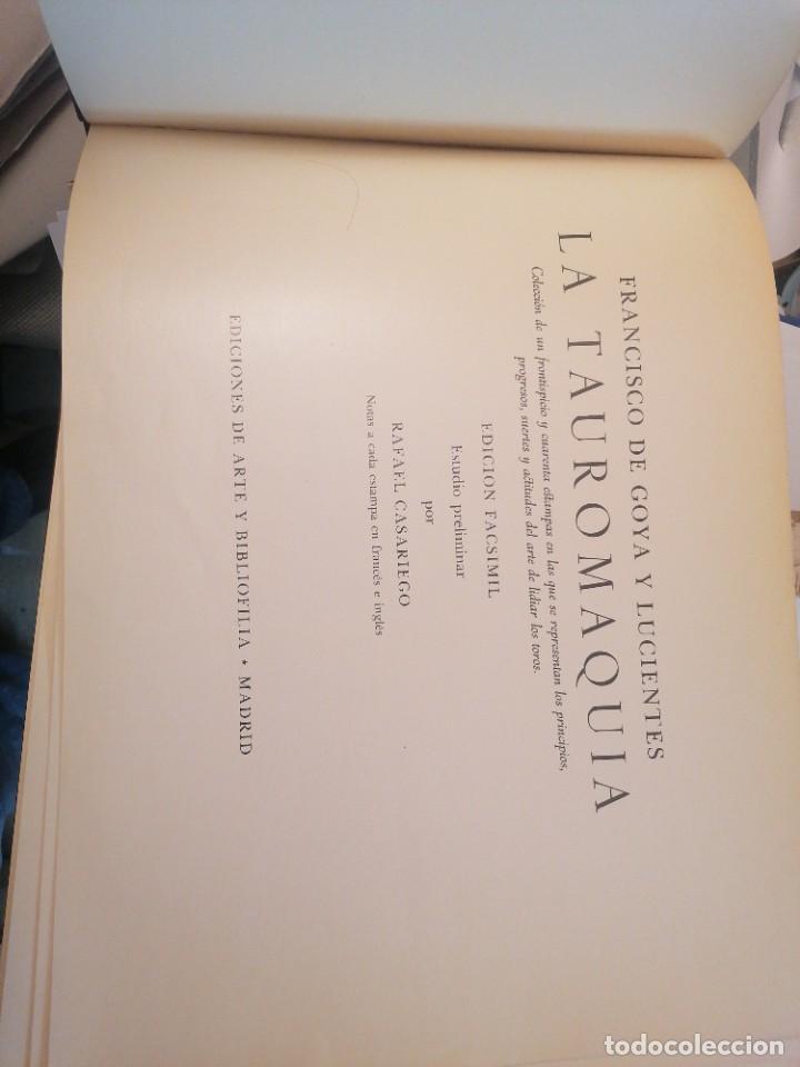 Libros de segunda mano: Rafael Casriego. Goya Tauromaquia - Foto 2 - 265475874