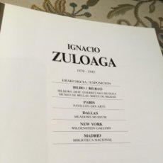 Libros de segunda mano: IGNACIO ZULOAGA CATALOGO. Lote 269015009