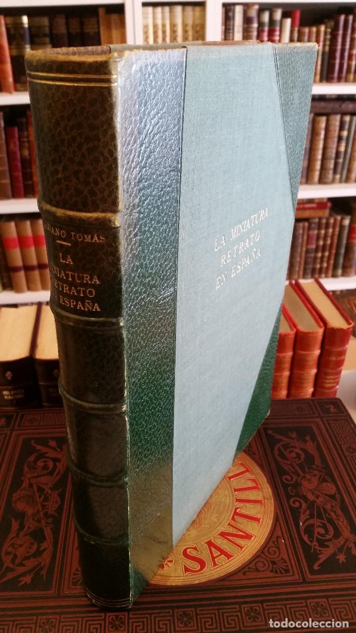 1953 - MARIANO TOMÁS - LA MINIATURA RETRATO EN ESPAÑA (Libros de Segunda Mano - Bellas artes, ocio y coleccionismo - Pintura)