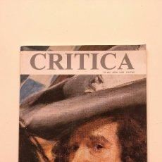 Libros de segunda mano: REVISTA CRÍTICA Nº 864, ABRIL 1999. Lote 269378903