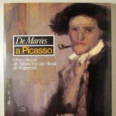 Libros de segunda mano: PICASSO, PABLO - DE MARÉES A PICASSO. OBRES MESTRES DEL MUSEU VON DER HEYDT DE WUPPERTAL - BARCELON. Lote 275531788