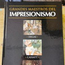 Libros de segunda mano: GRANDES MAESTROS DEL IMPRESIONISMO - DEGAS, CASSATT, MORISOT - CLUB INTERNACIONAL DEL LIBRO 2002. Lote 277697933