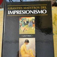 Libros de segunda mano: GRANDES MAESTROS DEL IMPRESIONISMO - LAUTREC, SEURAT- CLUB INTERNACIONAL DEL LIBRO 2002. Lote 277698433