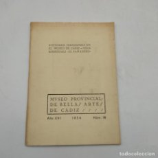 Libros de segunda mano: PINTORES JEREZANOS EN EL MUSEO DE CADIZ.JUAN RODRIGUEZ. EL PANADERO. AÑO XVI. 1934. Nº18.. Lote 285154613