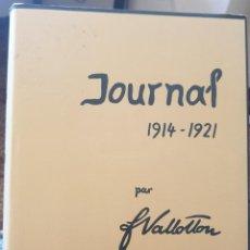 "Libros de segunda mano: VALLOTTON. 1914-1921. JOURNAL. VOLUME 3 (""C'EST LA GUERRE"") ED. 1975. Lote 287994363"