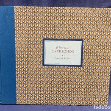 Libros de segunda mano: LIBRO CAPRICHOS GOYA MUSEO PRADO MADRID 1999 CATALOGO 1ª EDICION 35X40X6CMS. Lote 287997253