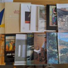 Libros de segunda mano: LOTE DE CATÁLOGOS DE EXPOSICIONES DE ARTISTAS ESPAÑOLES. ALGUNOS BASTANTE RAROS.. Lote 288010113