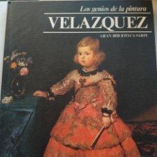 Libros de segunda mano: VELÁZQUEZ/LOS GENIOS DE LA PINTURA. Lote 289943418