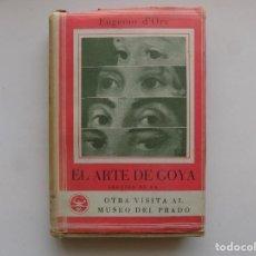 Libros de segunda mano: LIBRERIA GHOTICA. EUGENIO D ´ORS. EL ARTE DE GOYA. EDITORIAL AGUILAR 1940. MUY ILUSTRADO.. Lote 295738018