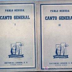 Libros de segunda mano: 1955 NERUDA: CANTO GENERAL. Lote 26513839