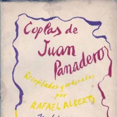 Libros de segunda mano: ALBERTI - PRIMERA EDICIÓN - COPLAS DE JUAN PANADERO. Lote 26293612