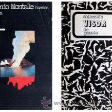 Libros de segunda mano: HUESOS DE SEPIA DE EUGENIO MONTALE (VISOR). Lote 16972566