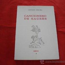 Livres d'occasion: CANCIONERO DE SAGRES. ANTONIO PEREIRA. POESIA.. Lote 27526228