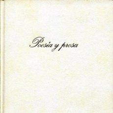 Libros de segunda mano: QUEVEDO -- POESIA Y PROSA. Lote 26009599