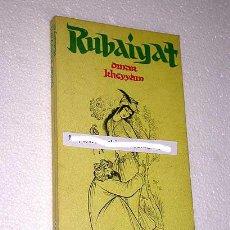 Libros de segunda mano: OMAR KHEYYAM. RUBAIYAT. PLAZA Y JANÉS. BARCELONA, 1980. SÉPTIMA EDICIÓN. RÚSTICA. 10 X 18 CM.. Lote 16923668