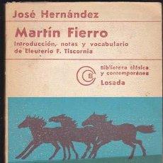 Libros de segunda mano: MARTIN FIERRO. Lote 20362136