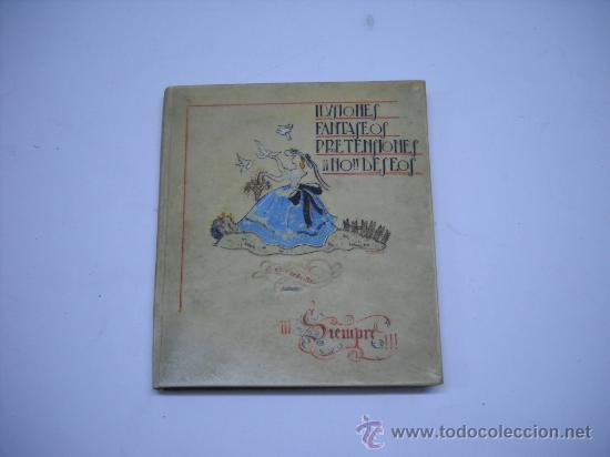 PRECIOSO LIBRO EN PERGAMINO DIBUJADO A MANO EN CUBIERTA CON POESIAS MANUSCRITAS, 30 HOJAS .17X18 (Libros de Segunda Mano (posteriores a 1936) - Literatura - Poesía)