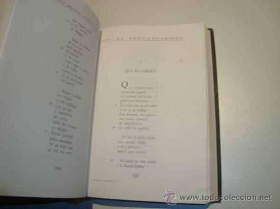 Libros de segunda mano: GABRIELA MISTRAL - POESÍAS COMPLETAS - BIBLIOTECA PREMIOS NOBEL - AGUILAR (1966) - Foto 3 - 22512428