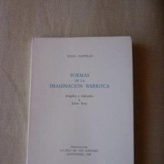 Livres d'occasion: JULIA CASTILLO POEMAS DE LA IMAGINACIÓN BARROCA. LA ISLA DE LOS RATONES. POESÍA ESPAÑOLA. CANTABRIA.. Lote 39041063