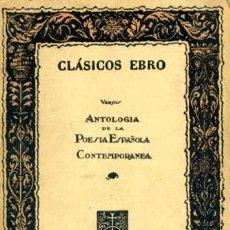 Libros de segunda mano: ANTOLOGIA DE LA POESIA ESPAÑOLA CONTEMPORANEA - J. M. AGUIRRE. Lote 27544425