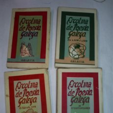 Libros de segunda mano: ESCOLMA DE POESÍA GALEGA 4 TOMOS GALAXIA (COLECCIÓN PONDAL), 1952-1959 GALICIA RM48649-V. Lote 27326789
