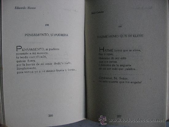 Libros de segunda mano: SOLO CENIZA VERSOS,DE EDUARDO ALONSO.PROLOGO DE DAMASO ALONSO AÑO 1952. - Foto 2 - 24161109