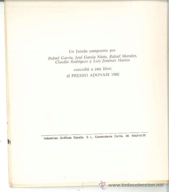 Libros de segunda mano: DE UNA NIÑA DE PROVINCIAS QUE SE VINO A VIVIR EN UN CHAGALL-Blanca Andréu-Dedicado autora1980.Poesía - Foto 3 - 27259239