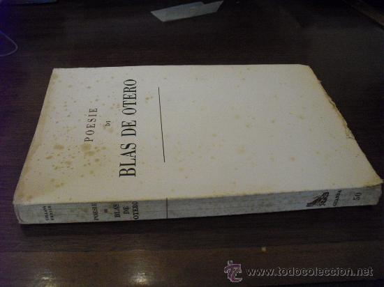1962 PRIMERA EDICION BILINGÚE POESIE BLAS DE OTERO MUY RARO (Libros de Segunda Mano (posteriores a 1936) - Literatura - Poesía)
