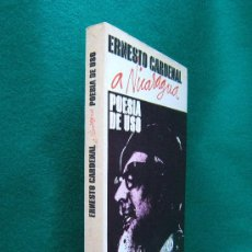 Libros de segunda mano: POESIA DE USO-A NICARAGUA-ERNESTO CARDENAL-BUENOS AIRES-1979-ANTOLOGIA-3000 EJEMPLARES-1ª EDICION.. Lote 29864282