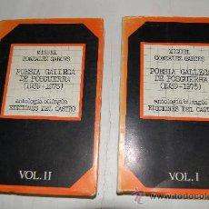 Libros de segunda mano: POESÍA GALLEGA DE POSGUERRA (1939-1975).VOLS. I Y II DOS TOMOS. M.GLEZ GONZLEZ GARCES RM55907. Lote 29901319