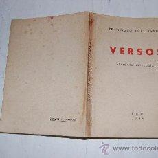Libros de segunda mano: VERSOS. (PRIMERA ANTOLOGÍA). FRANCISCO LEAL INSUA RM56014. Lote 29924192