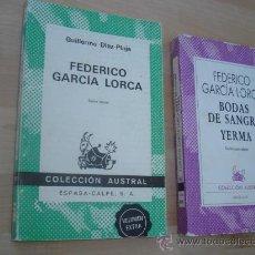 Libros de segunda mano: 2 LIBROS DE FEDERICO GARCIA LORCA. Lote 29931174