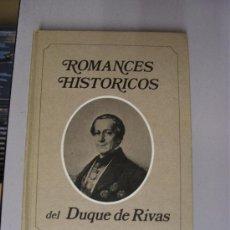 Libros de segunda mano - ROMANCES HISTORICOS DEL DUQUE DE RIVAS / SELECCIONES DEL READER'S DIGEST - 29965552