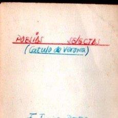 Libros de segunda mano: POESÍAS SELCTAS, CATULO DE VERONA, BOSCH, BARCELONA 1963. RÚSTICA, 35PÁG, 17X12CM. Lote 30108266