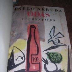 Libros de segunda mano: PABLO NERUDA - ( OBRA COMPLETA ) ODAS ELEMENTALES.,1 EDC., 4 VOLUMENES , EDT LOSADA 1954. Lote 31012283
