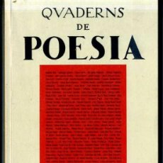 Libros de segunda mano: QUADERNS DE POESIA SETEMBRE 1995 - CATALÁN Y CASTELLANO -446 PÁGINAS. Lote 31907917