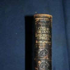 Libros de segunda mano: 0353- 'OBRA POÈTICA COMPLETA - PROSES LITERÀRIES' PER GUERAU DE LIOST - 1ªED. 1948 - SELECTA. Lote 32262868