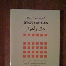 Libros de segunda mano: ESTADO Y ESTADOS, DE AHMED LEMSYEH. UNIVERSIDAD DE CÁDIZ, 2007. Lote 32724662