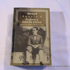 Libros de segunda mano: OBRAS II. POESIA 2 FEDERICO GARCÍA LORCA. EDICIÓN DE MIGUEL GARCÍA-POSADA. Lote 176228902