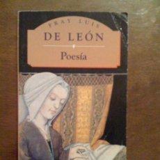 Libros de segunda mano: POESÍA, DE FRAY LUIS DE LEÓN. PML 1995. Lote 33280424