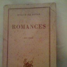 Libros de segunda mano: ROMANCES, DEL DUQUE DE RIVAS. ESPASA CALPE (AUSTRAL 46), 1949. Lote 33362135
