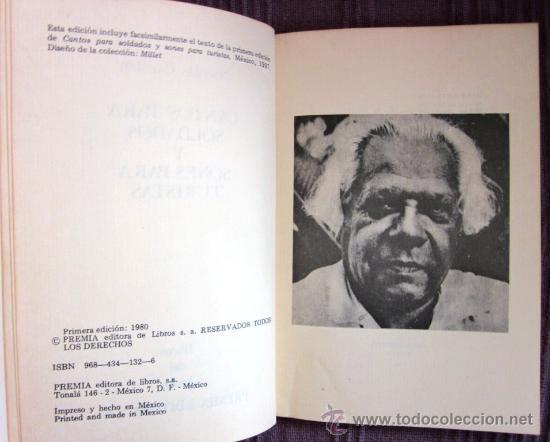 Libros de segunda mano: NICOLÁS GUILLÉN - CANTOS PARA SOLDADOS Y SONES PARA TURISTAS. Ed. facsímil de la de 1937- 1ª ED.1980 - Foto 2 - 33454667